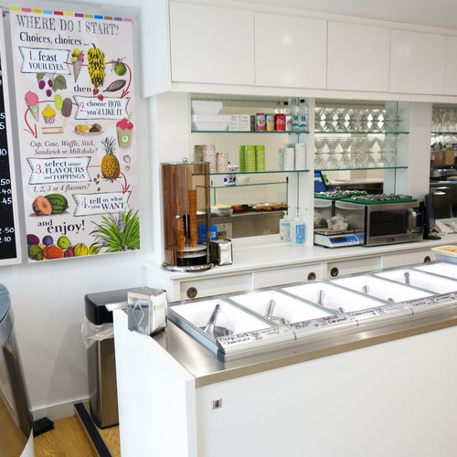Baileys Artisan Gelato Interior Fit Out - Serving Counter