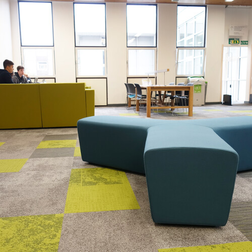 Oxford Brookes University - Wheatley Campus soft seating in breakout space