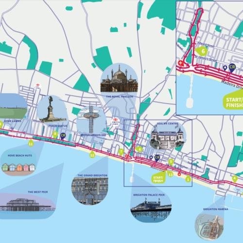 Brighton Half Marathon Course